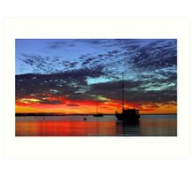 Boats At Dusk  Art Print