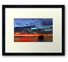 Boats At Dusk  Framed Print