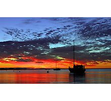 Boats At Dusk  Photographic Print