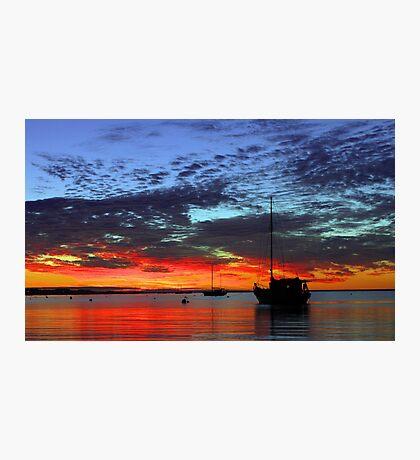 Boats At Dusk  Photographic Print
