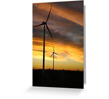 Sunrise Windfarm Greeting Card