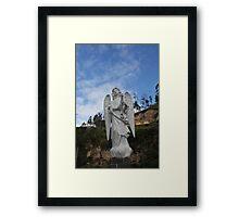 ANGEL SCULPTURE COLOMBIA Framed Print