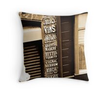 Old shop front Throw Pillow