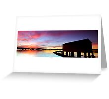 Saratoga Boat shed Greeting Card