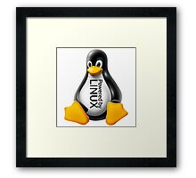 Powered by Linux Framed Print