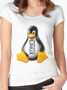Powered by Linux Women's Fitted Scoop T-Shirt