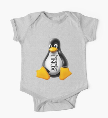 Powered by Linux One Piece - Short Sleeve