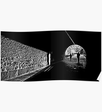 Tunnel light Poster