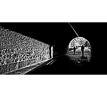 Tunnel light Photographic Print