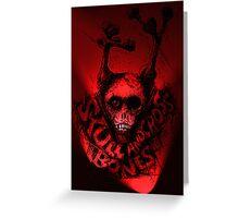Skull 'n Cross Bones..Red Greeting Card