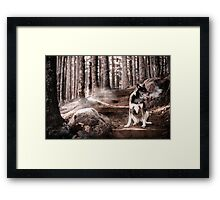 Frosty Morning Walk Framed Print