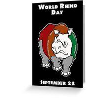 World Rhino Day Greeting Card