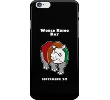 World Rhino Day iPhone Case/Skin