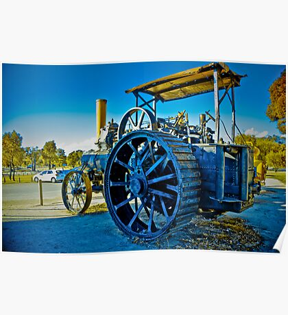 Old Tractor HDR Poster