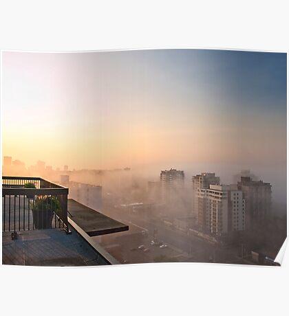 Foggy Morning in Edmonton Poster