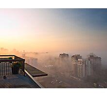 Foggy Morning in Edmonton Photographic Print