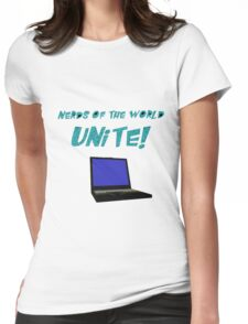 Nerds of the World Unite Womens Fitted T-Shirt