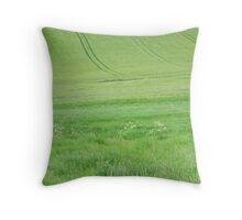 Green land Throw Pillow
