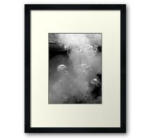 Falling from society & falling into myself Framed Print