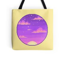 Pixel Planet - Glitter Sunset Tote Bag