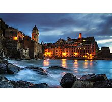 Vernazza Night Photographic Print