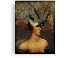 Bird Woman Canvas Print