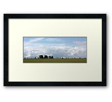 Standing Stones, Ancient and Modern Framed Print
