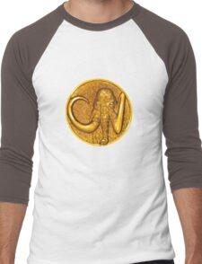 Mighty Morphin Power Rangers Black Ranger Mastadon Coin Men's Baseball ¾ T-Shirt
