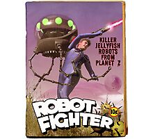 Robot Fighter Fake Pulp Cover Photographic Print