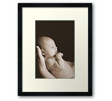 Mothers Touch Framed Print