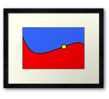 Red Blue Yellow Framed Print
