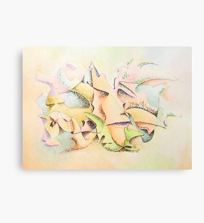 "Mask - watercolor - 10"" x 7.5"" Canvas Print"
