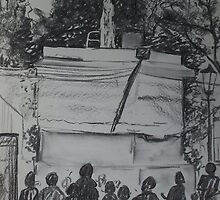 Singer on the plinth by Fran Webster