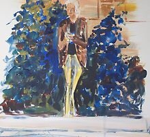 Wine on the plinth. by Fran Webster