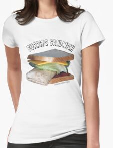 Burrito Sandwich Womens Fitted T-Shirt