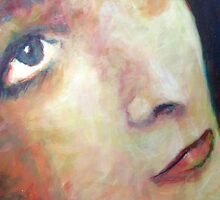 Lucy: Portrait Painting of Girls Face by Samuel Durkin