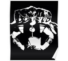 Mighty Morphin Power Rangers 2 Black/White Poster