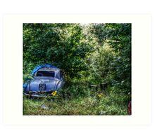 A Country Drive  Art Print