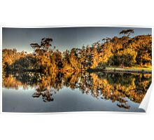 Just Reflecting - Narrabeen Lakes , Sydney - The HDR Experience Poster