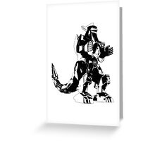 Mighty Morphin Power Rangers Dragonzord 2 Greeting Card