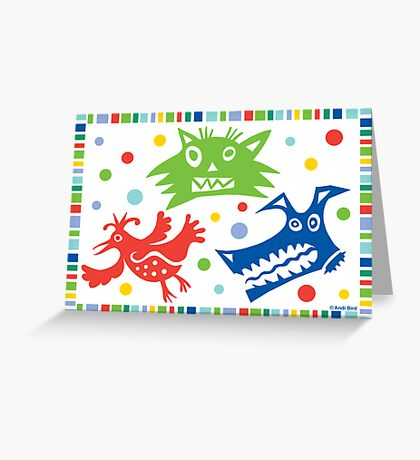 Bad Critters Card Greeting Card