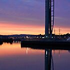 Sunset over Glasgow Science Centre by Littlest