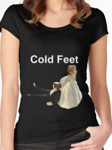 Cold Feet white Women's Fitted Scoop T-Shirt