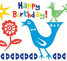 Bird buddies Birthday - card by Andi Bird
