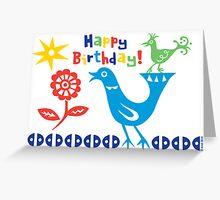 Bird buddies Birthday - card Greeting Card