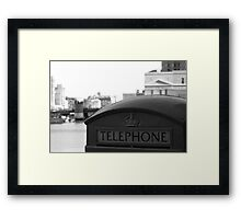 Outdated Communication Framed Print