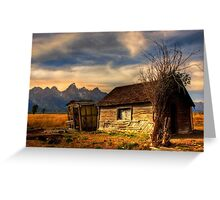 Mormon Row, Tetons National Park, Jackson,  Wyoming, USA. Greeting Card