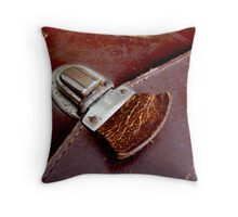 Leather & Latch Throw Pillow
