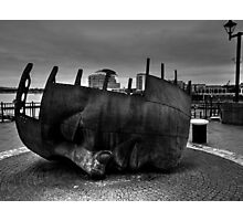 Face Sculpture At Mermaid Quay Cardiff Wales Photographic Print