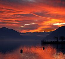 Winter sunset, Brienz, Switzerland by Mark Howells-Mead